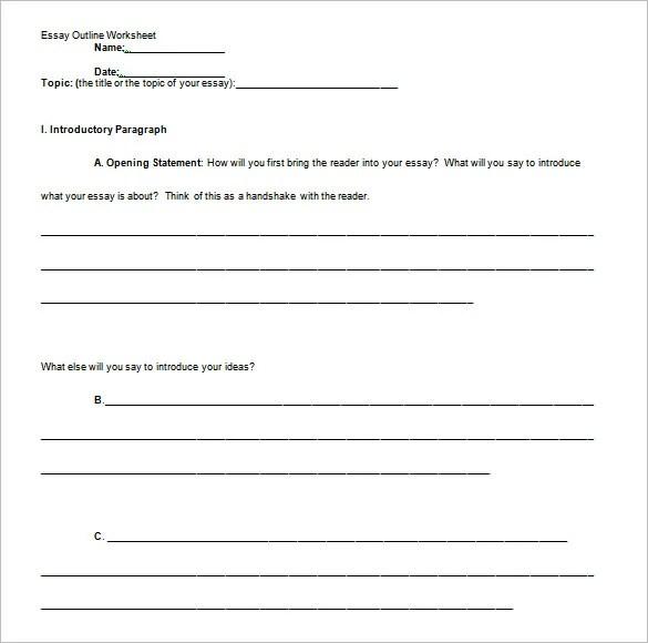 Essay Outline Of Essay Outlines Essay Outline Word Pdf Format Essay