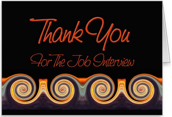 job interview thank you