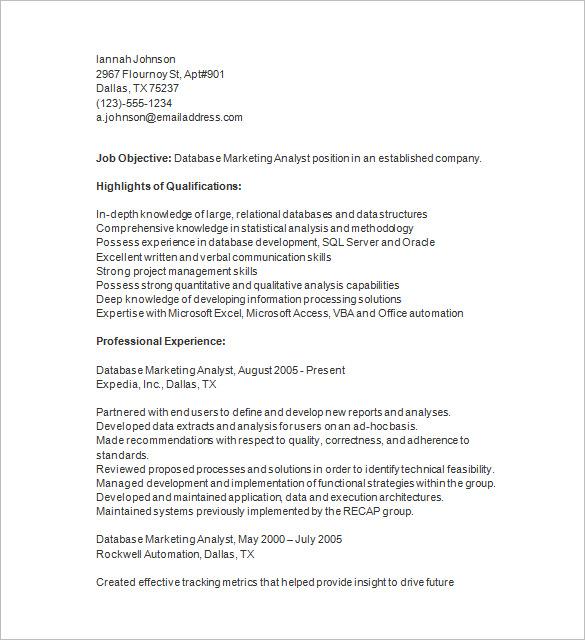 sales resume templates 2015