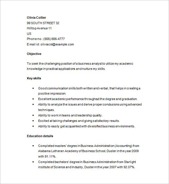 Marketing Analyst Resume Template  16 Free Samples Examples Format Download  Free