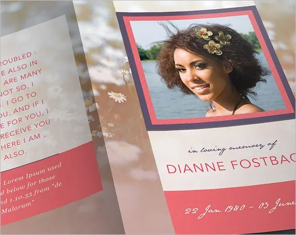 Obituary Program Template 19 Free Word Excel PDF PSD PPT Format Download Free