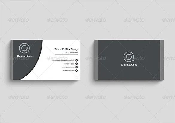 business card template word 2019