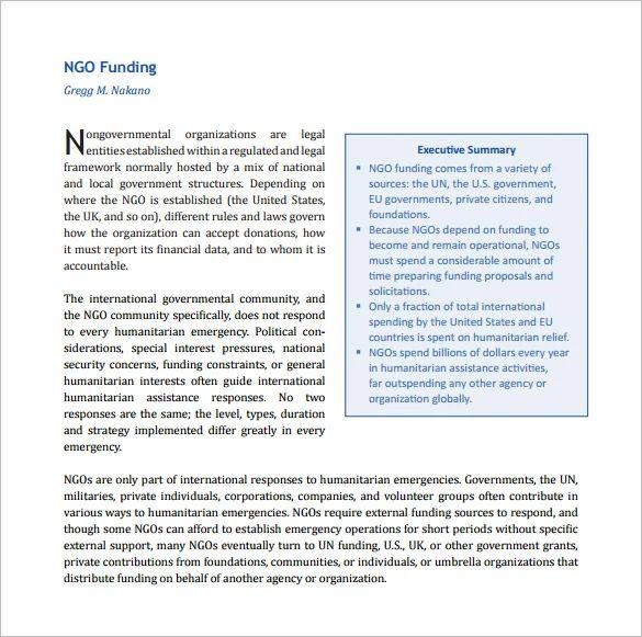 Ngo Funding Proposal Template - Resume Examples | Resume