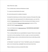 11+ Late Rent Notice Templates - DOC, PDF, Excel | Free ...