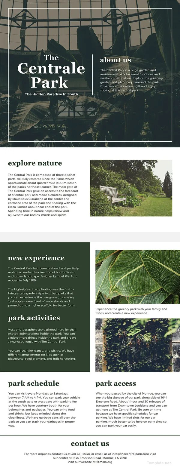 One Page Brochure Template