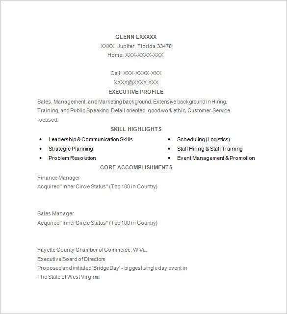 7 Golf Caddy Resume Templates DOC PDF Free & Premium