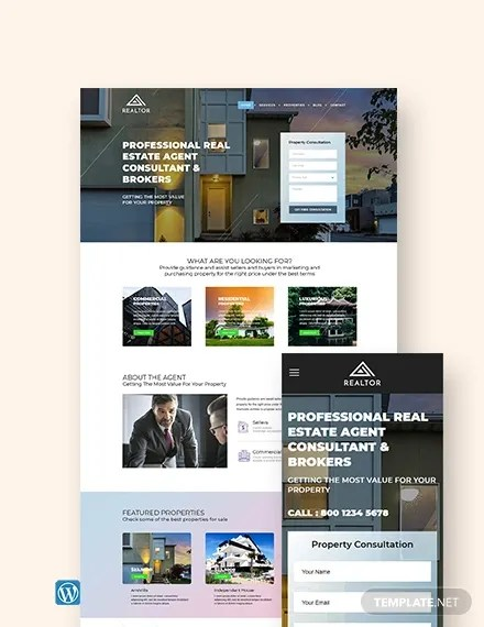 We developed starbis business website template to satisfy the needs of modern business.our template can be used by companies of any size to create a stunning website. 29 Free Real Estate Website Themes Templates Free Premium Templates