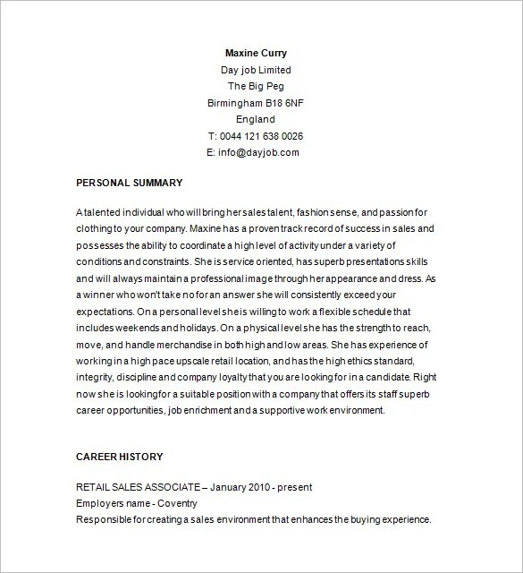 Resume Sample For Retail 11 Amazing Retail Resume Examples