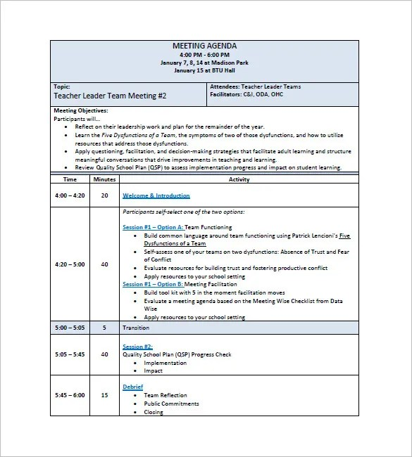 17 Staff Meeting Minutes Templates Pdf Doc Free