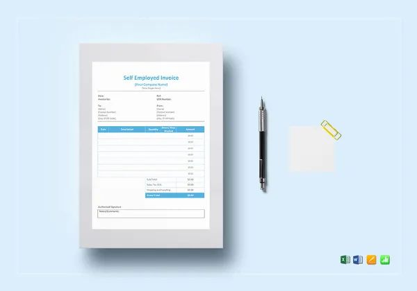 self employed invoice template word