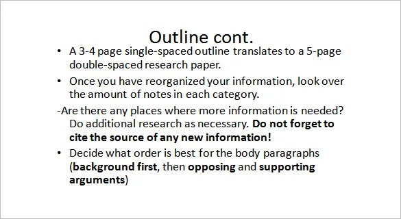 Project Outline Template – 9 Free Sample Example Format Download