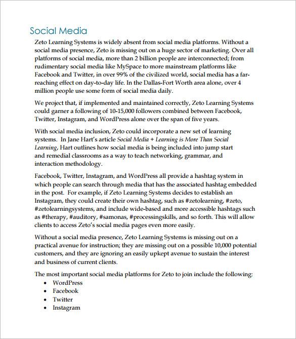 social media management proposal pdf