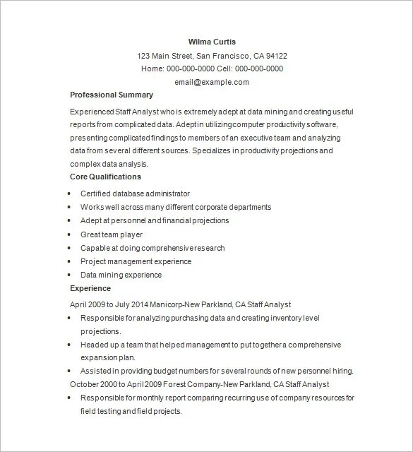 Marketing Analyst Resume Template – 16 Free Samples