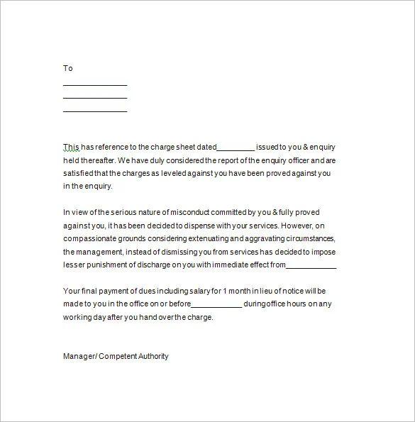 contract termination notice