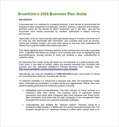 Business Plan Template – 97+ Free Word, Excel, PDF, PSD ...