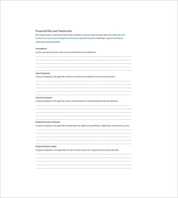 Financial Business Plan Template - 18+ Word. Excel. PDF Format Download | Free & Premium Templates