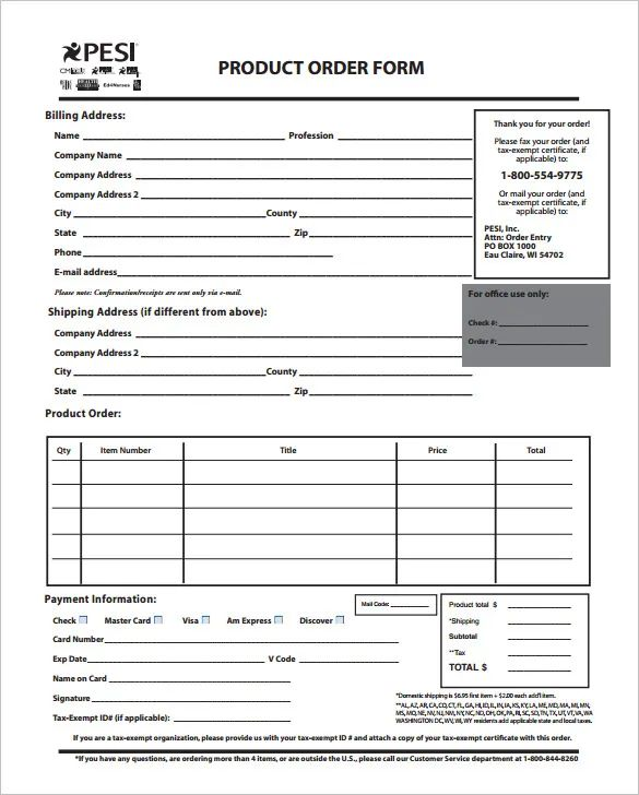 free purchase order form template excel