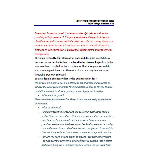 Interior design marketing plan for Business plan for interior design company