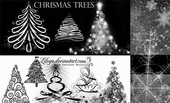 868 Christmas Photoshop Brushes Free Vector EPS ABR