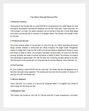 Interior Business Plan Ideal Vistalist Co