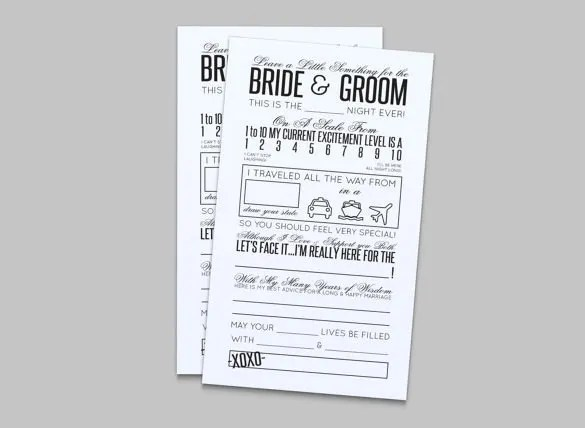 Wedding Hotel Card Template - Wedding Invitation Sample