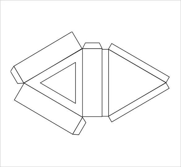 Triangle Box Template