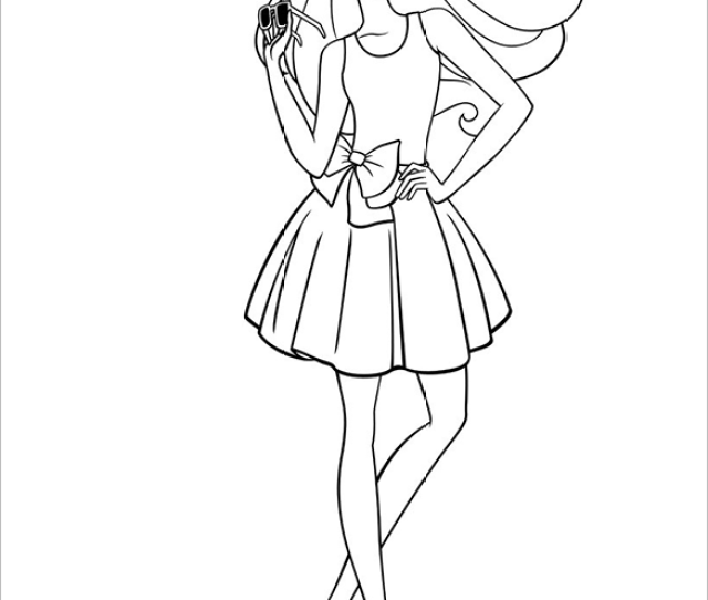 Barbie Coloring Pages Doc Pdf Png Jpeg Eps Free
