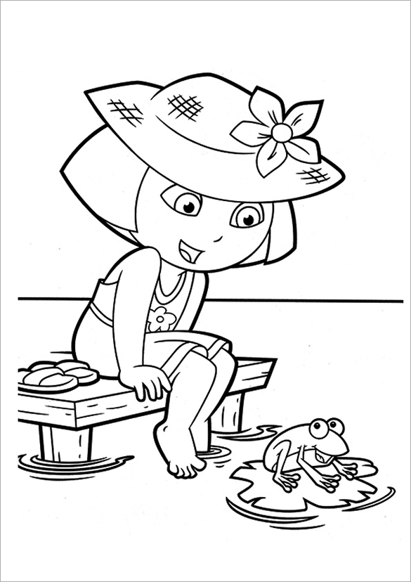 19+ Dora Coloring Pages