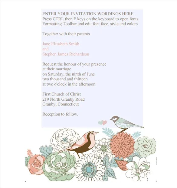 Awesome Wedding Invitation Templates Free 30 Ideas With