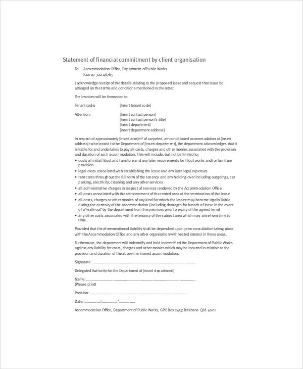 Lease Proposal Template 9 Free Word PDF Documents