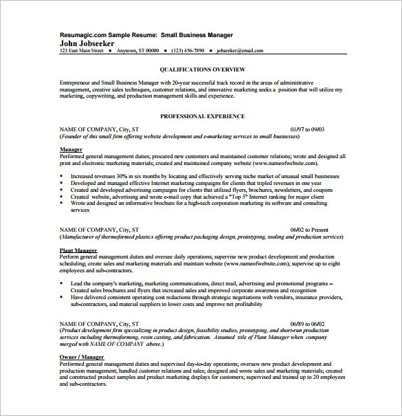 Resume Template – 11 Free Word Excel PDF Format