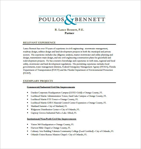 13 Civil Engineer Resume Templates PDF DOC Free Premium Templates