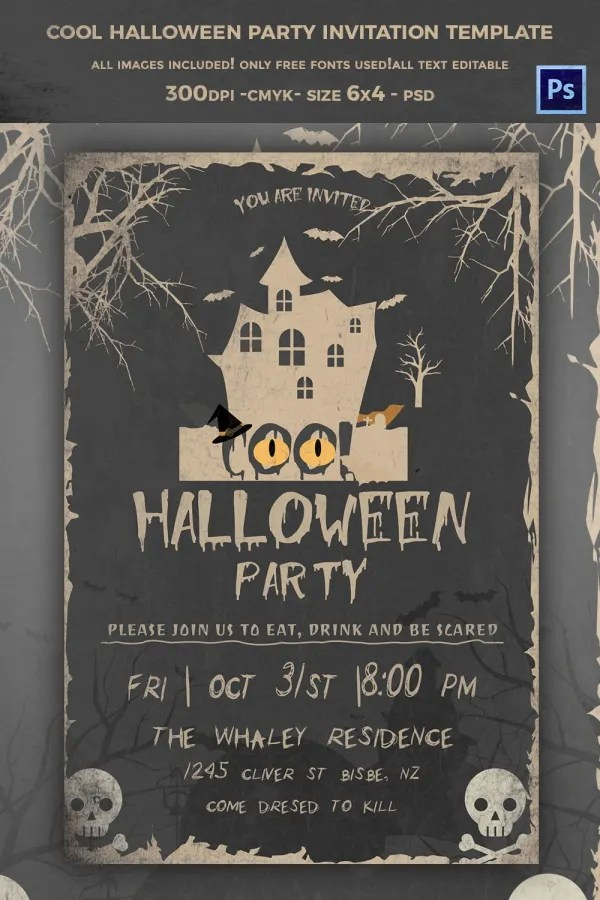 Unleash the wild in your child. 35 Halloween Invitation Free Psd Vector Eps Ai Format Download Free Premium Templates