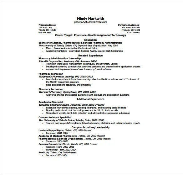 Page Resume Example  Examples Of Resumes