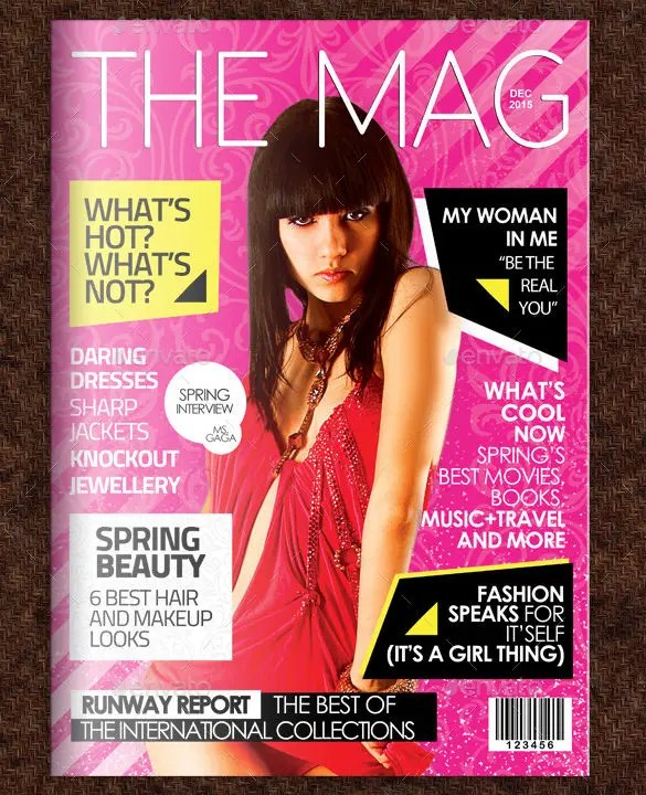 example of magazine cover