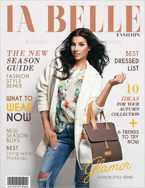 36 magazine cover template