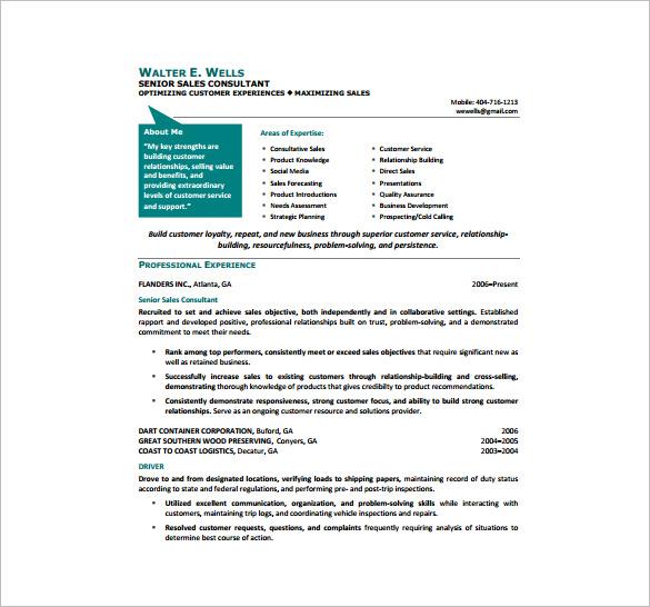 10 Sample Consultant Resume Templates Free & Premium