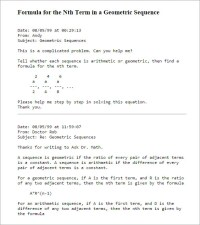 Arithmetic And Geometric Sequences Worksheet - Kidz Activities