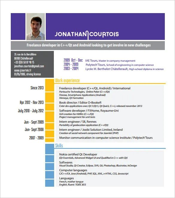 free engineer resume template
