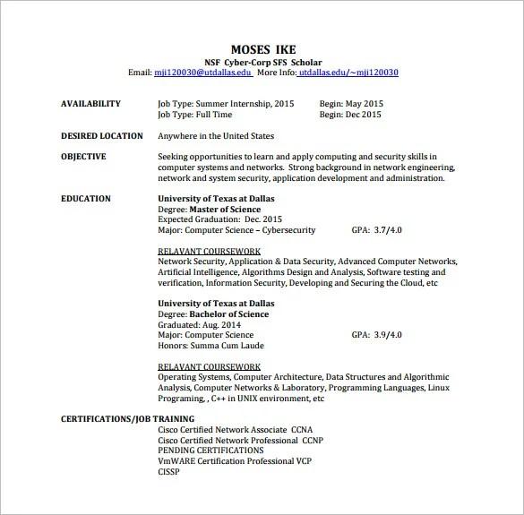 network engineer resume template resume format