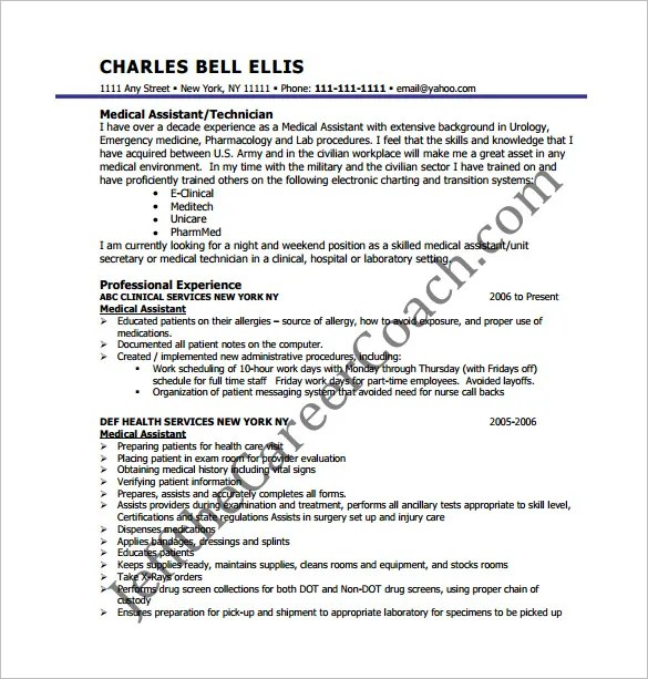 medical assistant resume template free – brianhans.me