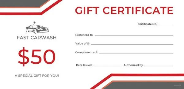 free printable gift certificates for business