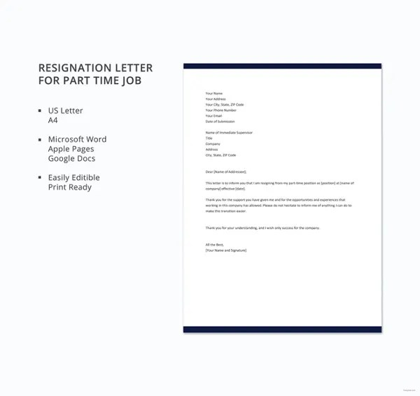 15 Simple Resignation Letter Templates  Free Sample Example Format Download  Free  Premium
