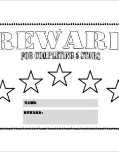 Five star reward chart free pdf template also templates doc excel  premium rh