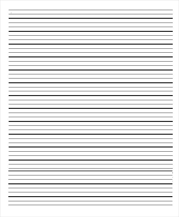 Lined Paper Template Word - FREE DOWNLOAD