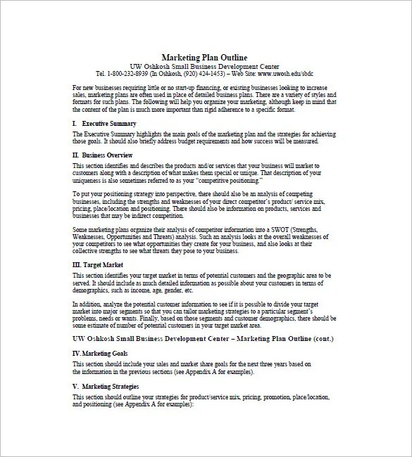 One Page Marketing Plan Template  16 Free Sample Example Format Download  Free  Premium
