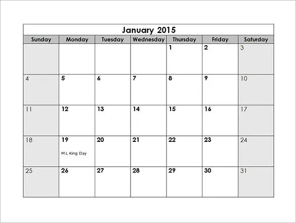 monthly schedule template word