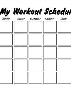 My workout schedule template also templates pdf doc free  premium rh
