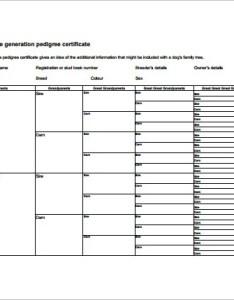 Fifth generation pedigree chart also templates pdf doc excel free  premium rh template