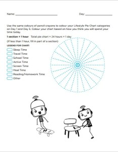 Life style pie chart free pdf template download also word excel format rh